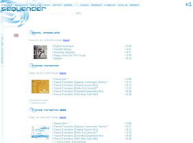 Sequencer Homepage v. 2 screenshot